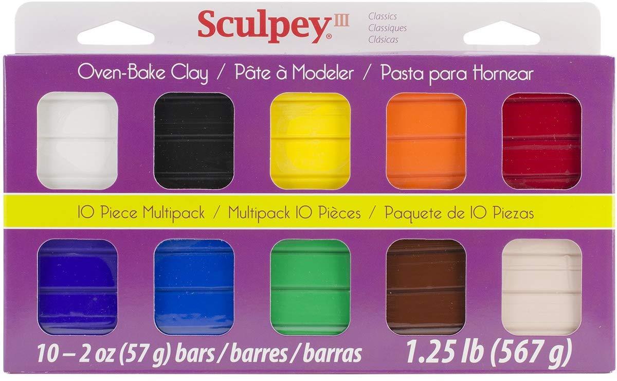 Sculpey III - Arcilla Polimérica Multipack Colores Clásicos 10 x 57 g