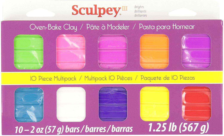 Sculpey III - Arcilla Polimérica Multipack Colores Brillantes 10 x 57 g