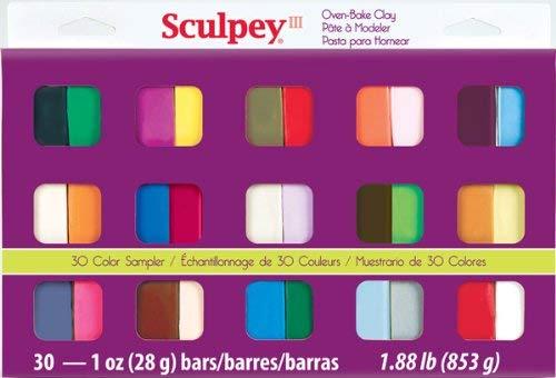 Sculpey III - Set 30 Arcilla Polimérica; 853 g, (30 barras de 28 g)