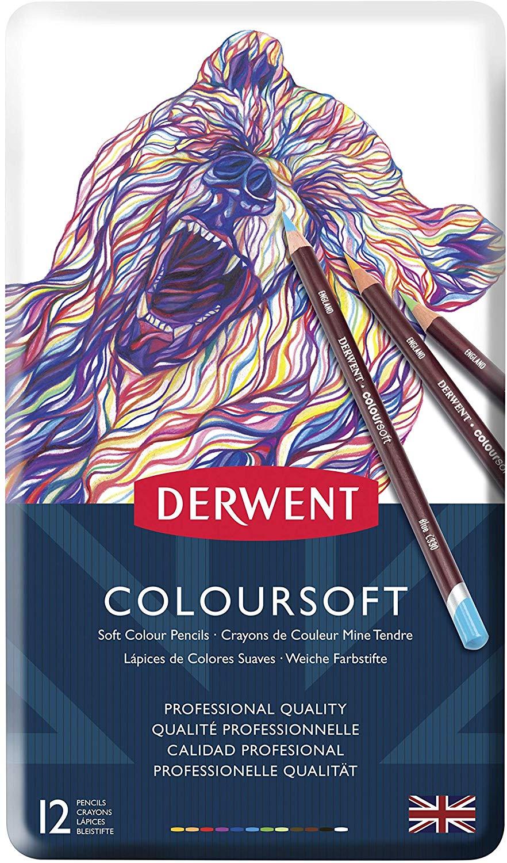 Derwent Coloursoft - Set 12 Lápices de Colores