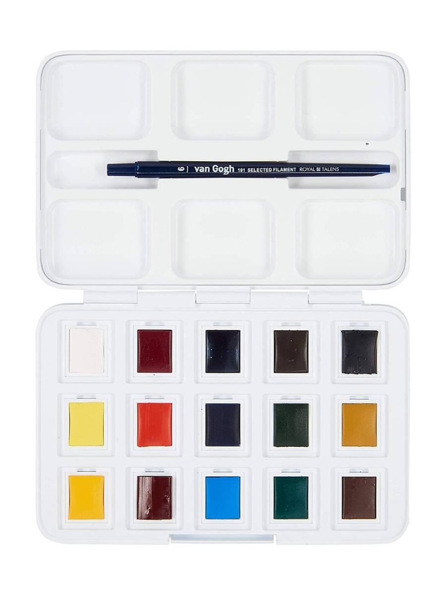Van Gogh Pocket Box - Set 12 + 3 Acuarelas Colores Básicos