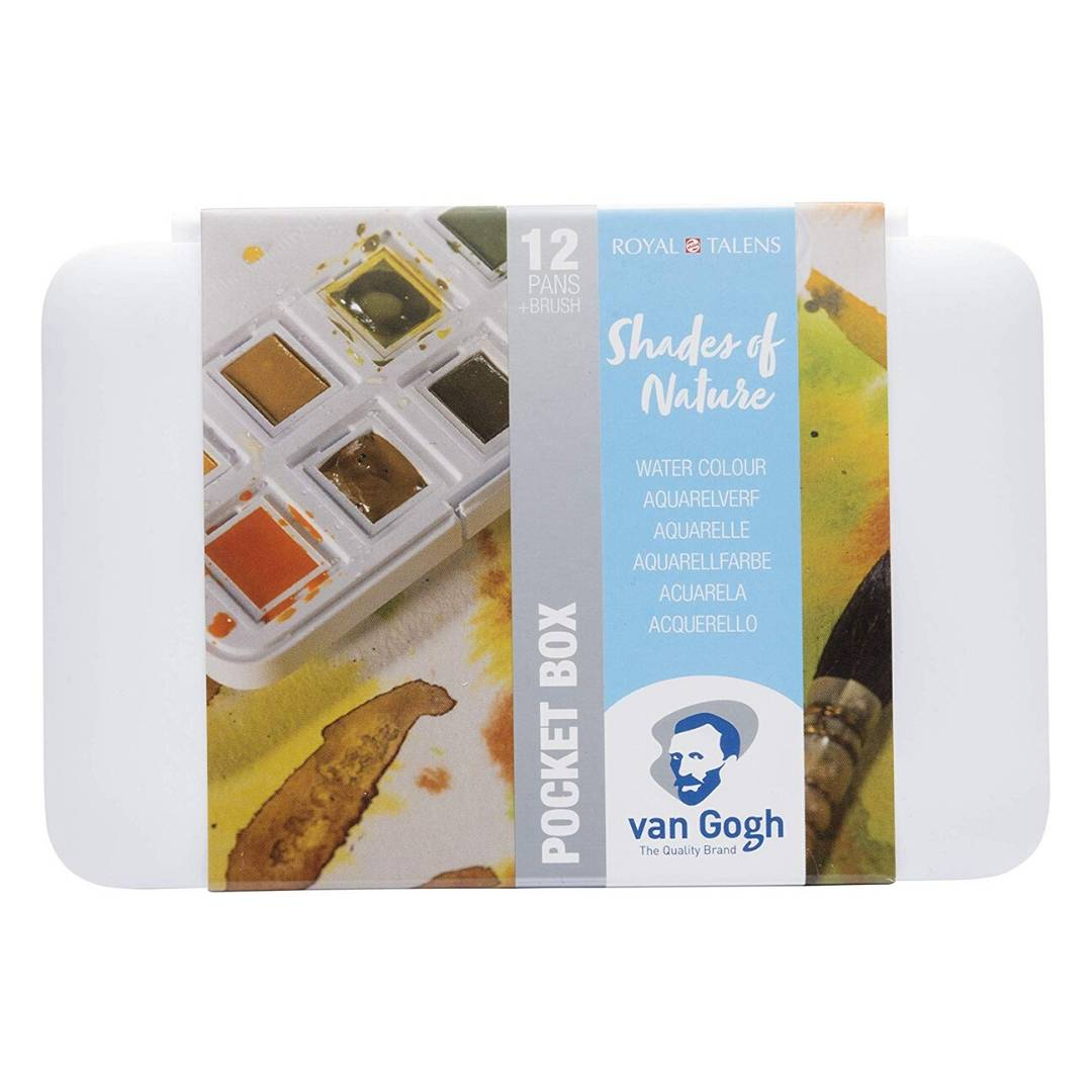 Van Gogh Pocket Box - Set 12 Acuarelas Matices de la Naturaleza
