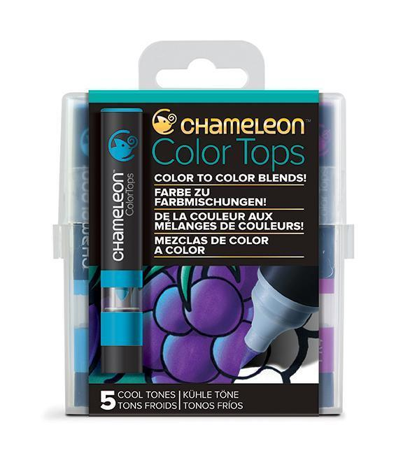 Chameleon Color Tops - Set 5 Marcadores Tonos Fríos