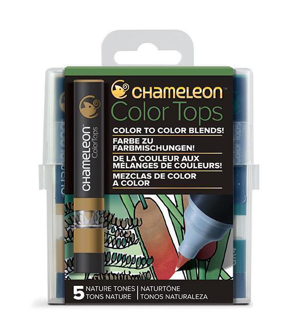 Chameleon Color Tops - Set 5 Marcadores Tonos Naturaleza