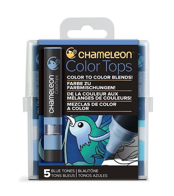 Chameleon Color Tops - Set 5 Marcadores Tonos Azules