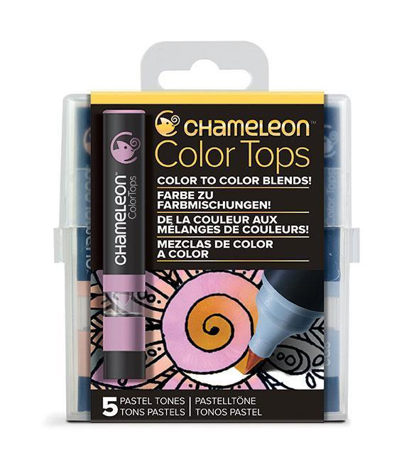 Chameleon Color Tops - Set 5 Marcadores Tonos Pastel