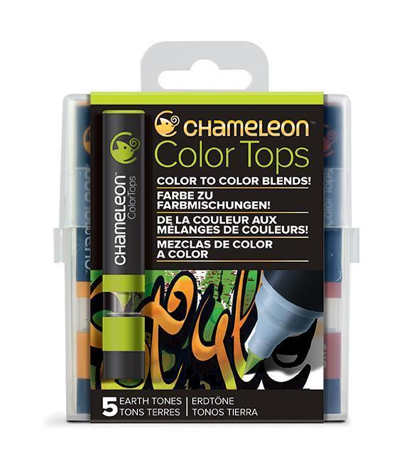 Chameleon Color Tops - Set 5 Marcadores Tonos Tierra