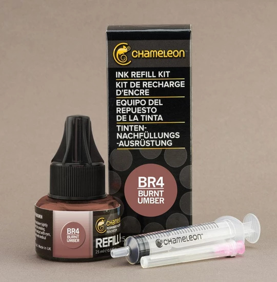 Chameleon Ink Refill - Recarga de Tinta (BR4); Burnt Umber