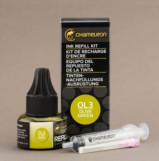 Chameleon Ink Refill - Recarga de Tinta (OL3); Olive Green