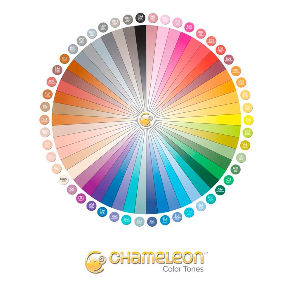 Chameleon Color Tones - Maleta con 52 Marcadores