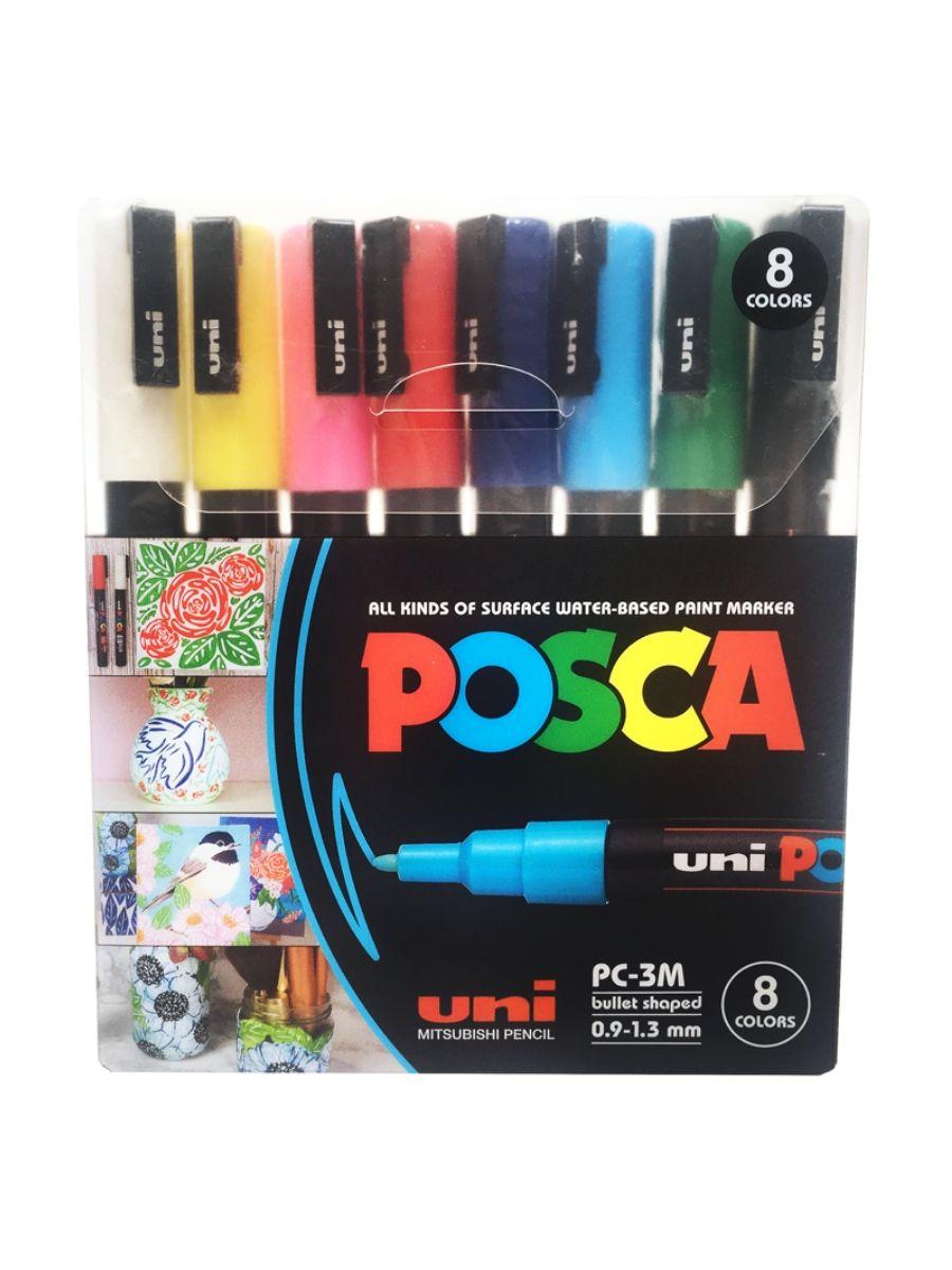 Uni Posca - Set 8 Marcadores PC-3M Punta Fina