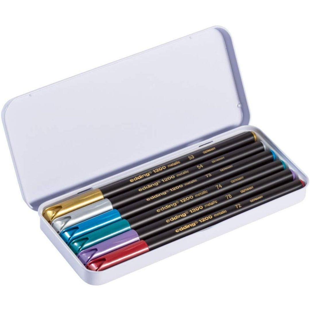 Edding 1200 - Set 6 Marcadores Colores Metálicos