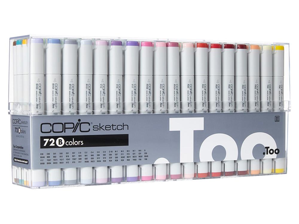 Copic Sketch - Set 72 Marcadores Colores B
