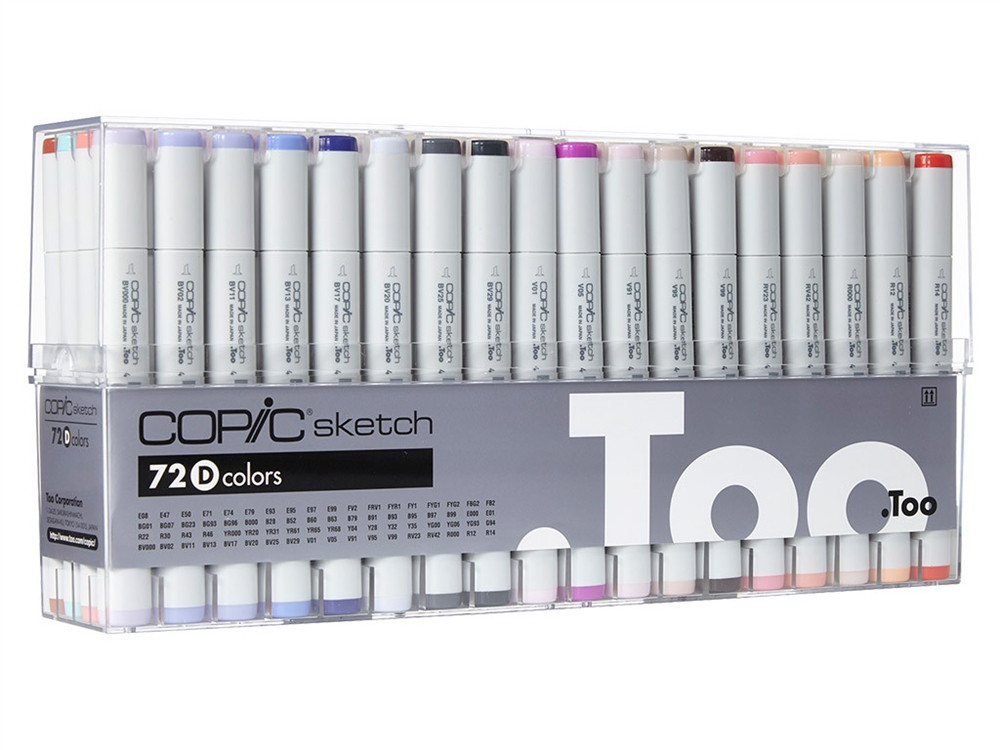 Copic Sketch - Set 72 Marcadores Colores D