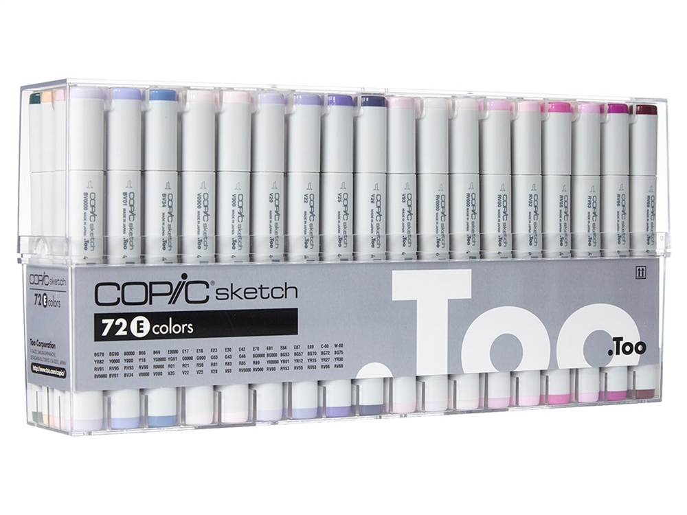 Copic Sketch - Set 72 Marcadores Colores E
