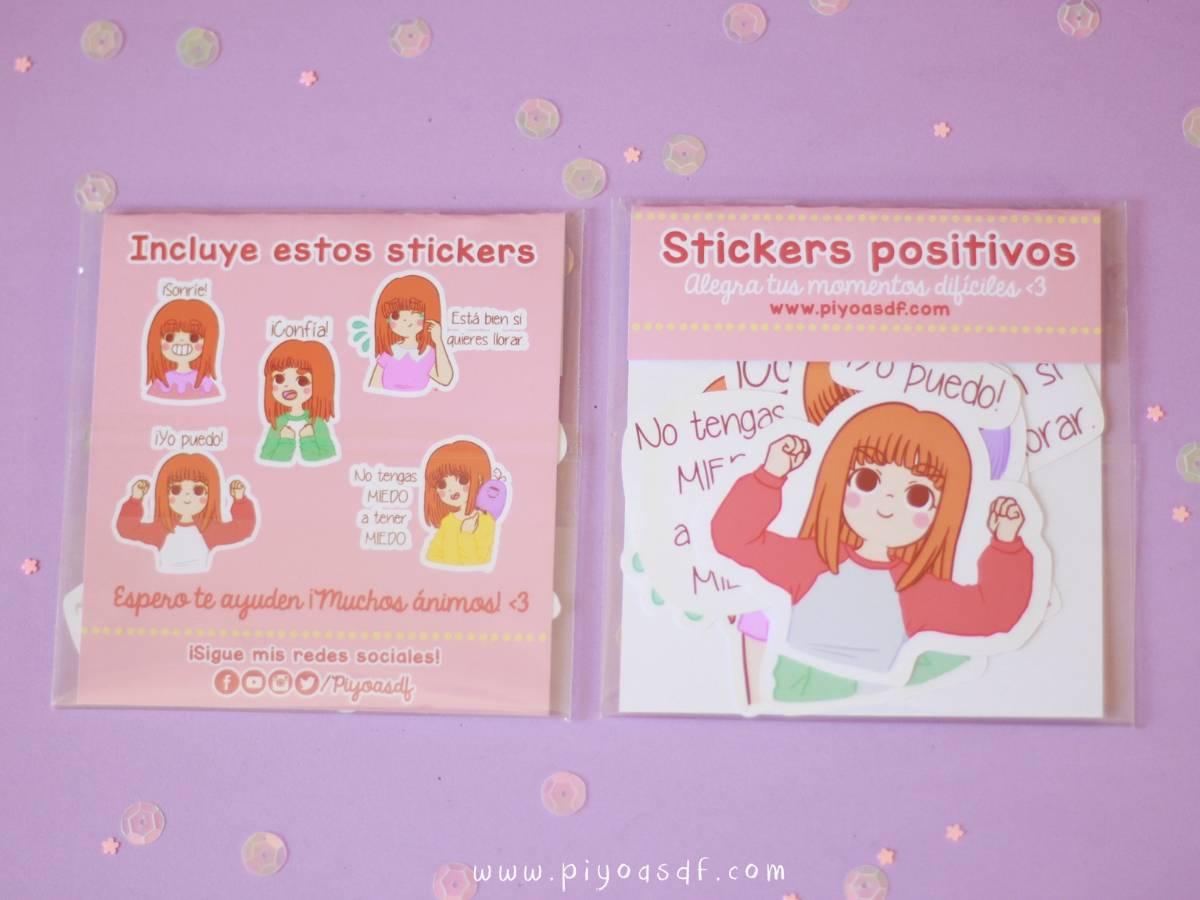 Piyoasdf - Pack Stickers Positivos 1