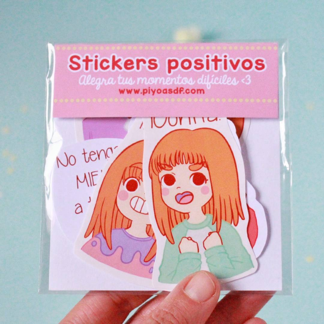 Piyoasdf - Pack Stickers Positivos 1