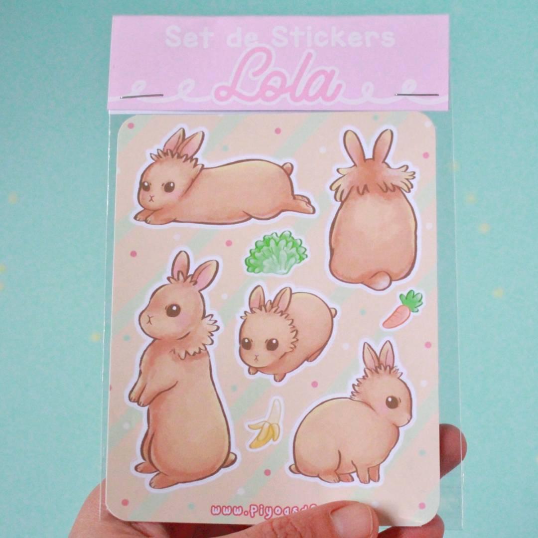 Piyoasdf - Pack Stickers Lola