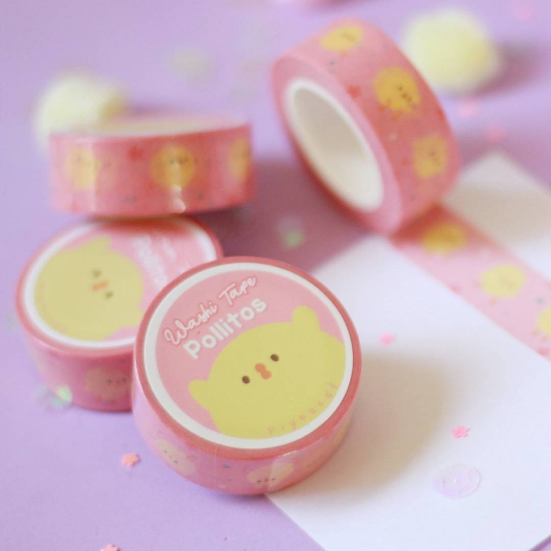 Piyoasdf - Washi Tape Pollitos
