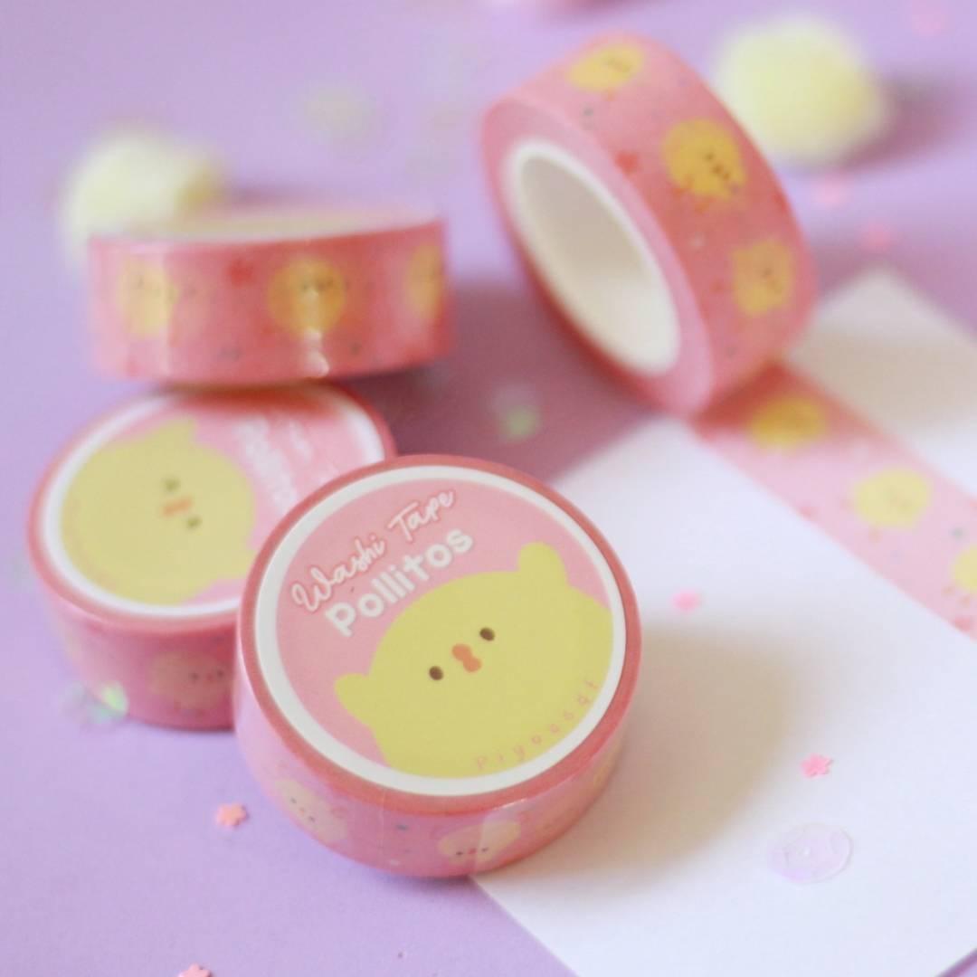 Piyoasdf - Washi Tape Pollitos