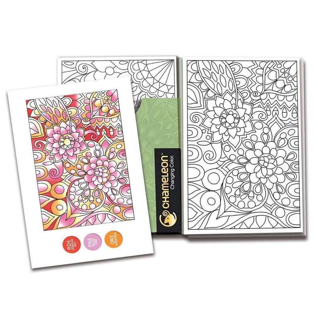 Chameleon Color Cards - Tarjetas para Colorear; Estampados Florales