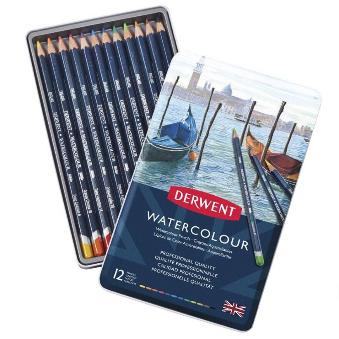 Derwent Watercolour - Set de 12 Lápices Acuarelables