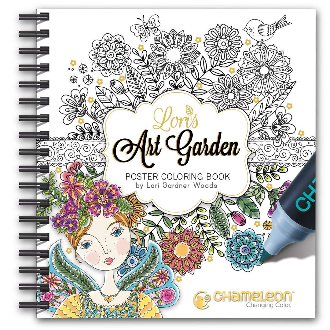 Chameleon - Libro para Colorear Lori's Art Garden