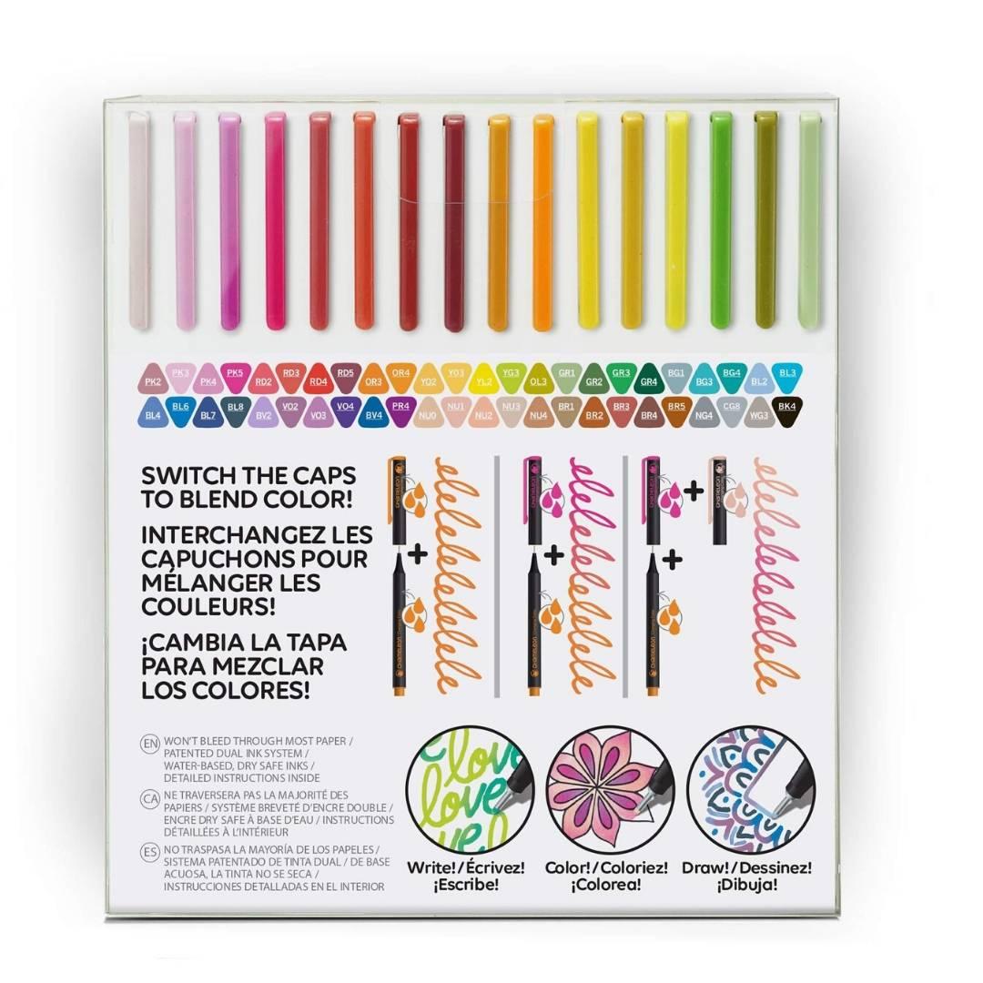 Chameleon Fineliners - Set 48 Tiralíneas Colores Brillantes