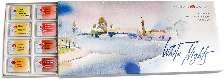 White Nights St Petersburg - Set 24 Acuarelas Rusas Extra Finas