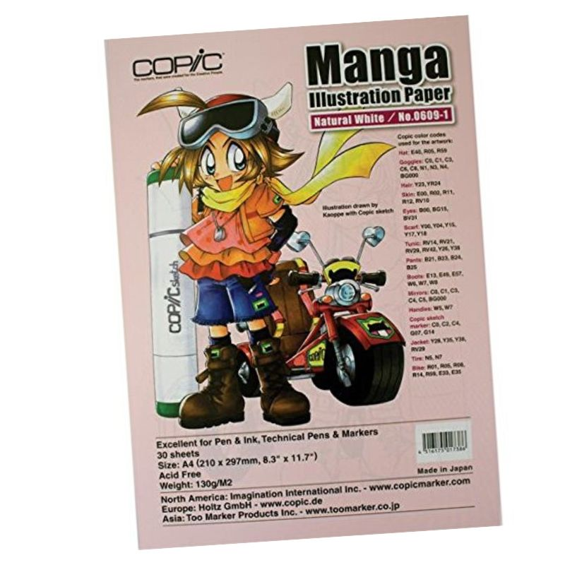 Copic Manga Illustration Paper - Pack 30 Hojas Natural White No.0609-1; A4 21 x 29,7 cm, 130 g/m2