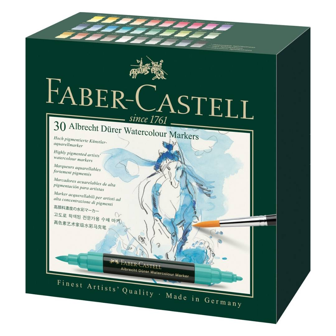 Faber-Castell Albrecht Durer Watercolor Markers - Set 30 Marcadores Acuarelables