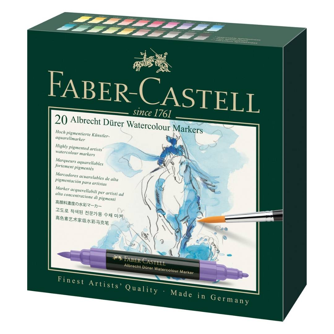 Faber-Castell Albrecht Durer Watercolor Markers - Set 20 Marcadores Acuarelables