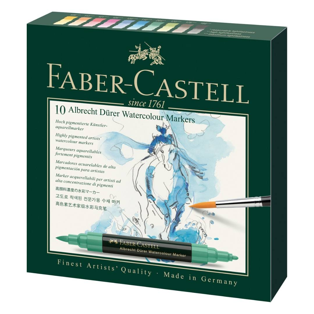 Faber-Castell Albrecht Durer Watercolor Markers - Set 10 Marcadores Acuarelables