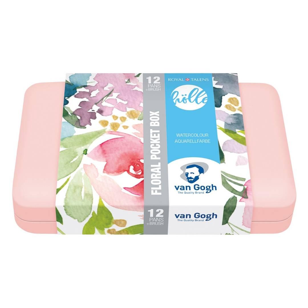 Van Gogh Pocket Box Frau Holle - Set 12 Acuarelas Colores Florales