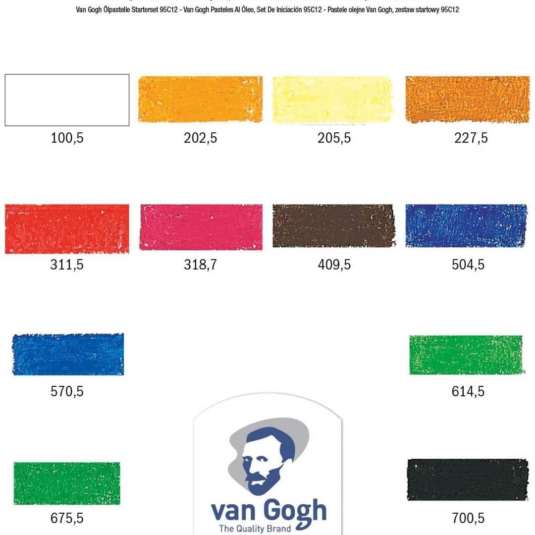 Van Gogh Oil Pastels - Set 12 Pasteles al Óleo