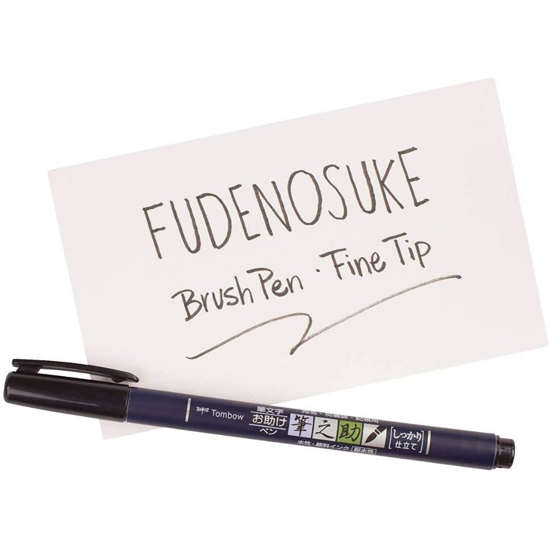 Tombow Fudenosuke - Lápiz de Caligrafía; Punta Dura, Negro