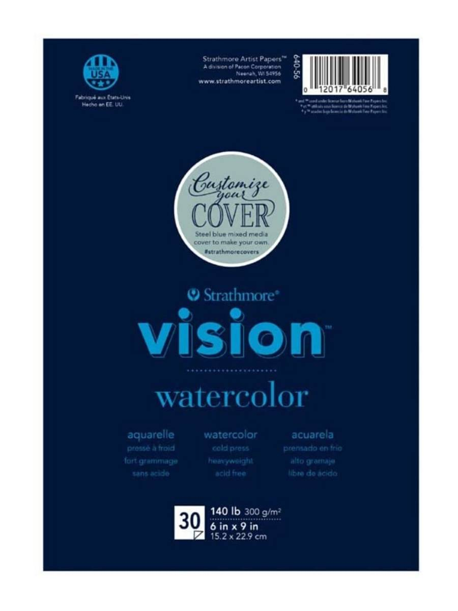 Strathmore Vision Watercolor - Block Acuarela 15,2 x 22,9 cm 300 g/m2 30 hojas