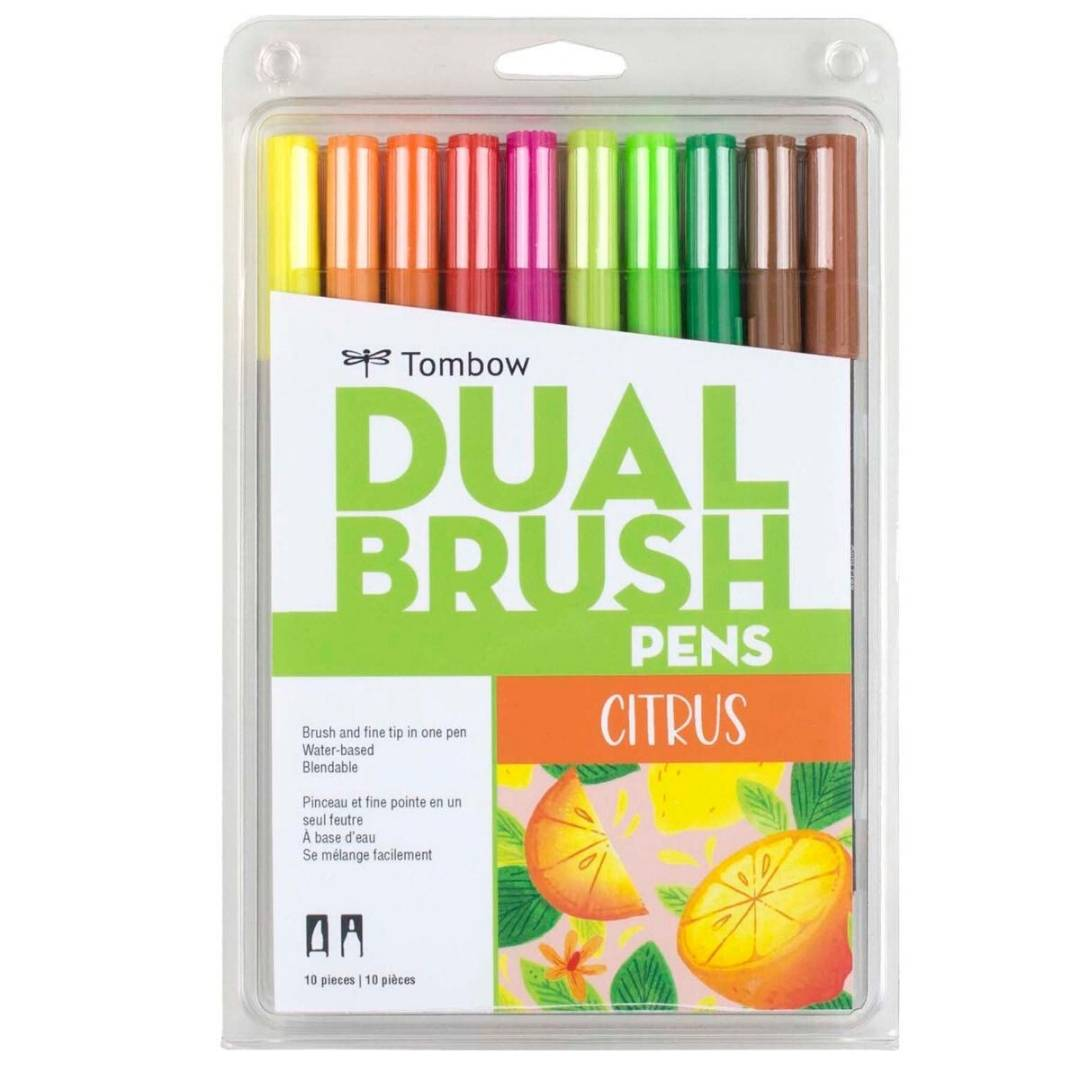 Tombow Dual Brush - Set 10 Marcadores; Citrus