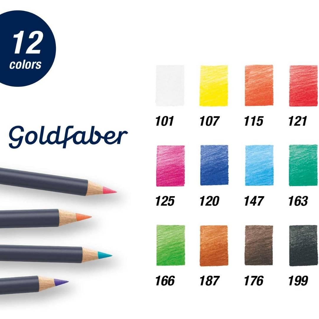 Faber Castell Goldfaber - Set 12 Lápices de Colores