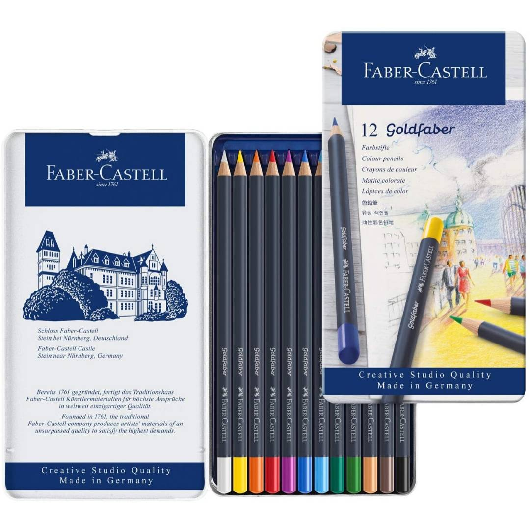 Faber Castell Goldfaber - Set 12 Lápices de Colores