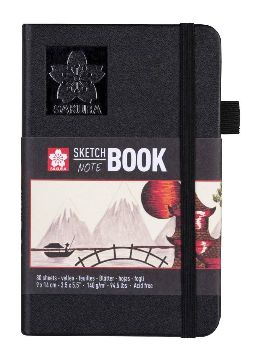 Sakura Sketch Note Book - Sketchbook Papel Blanco/Crema; 9 x 14 cm, 80 Hojas, 140 g/m2