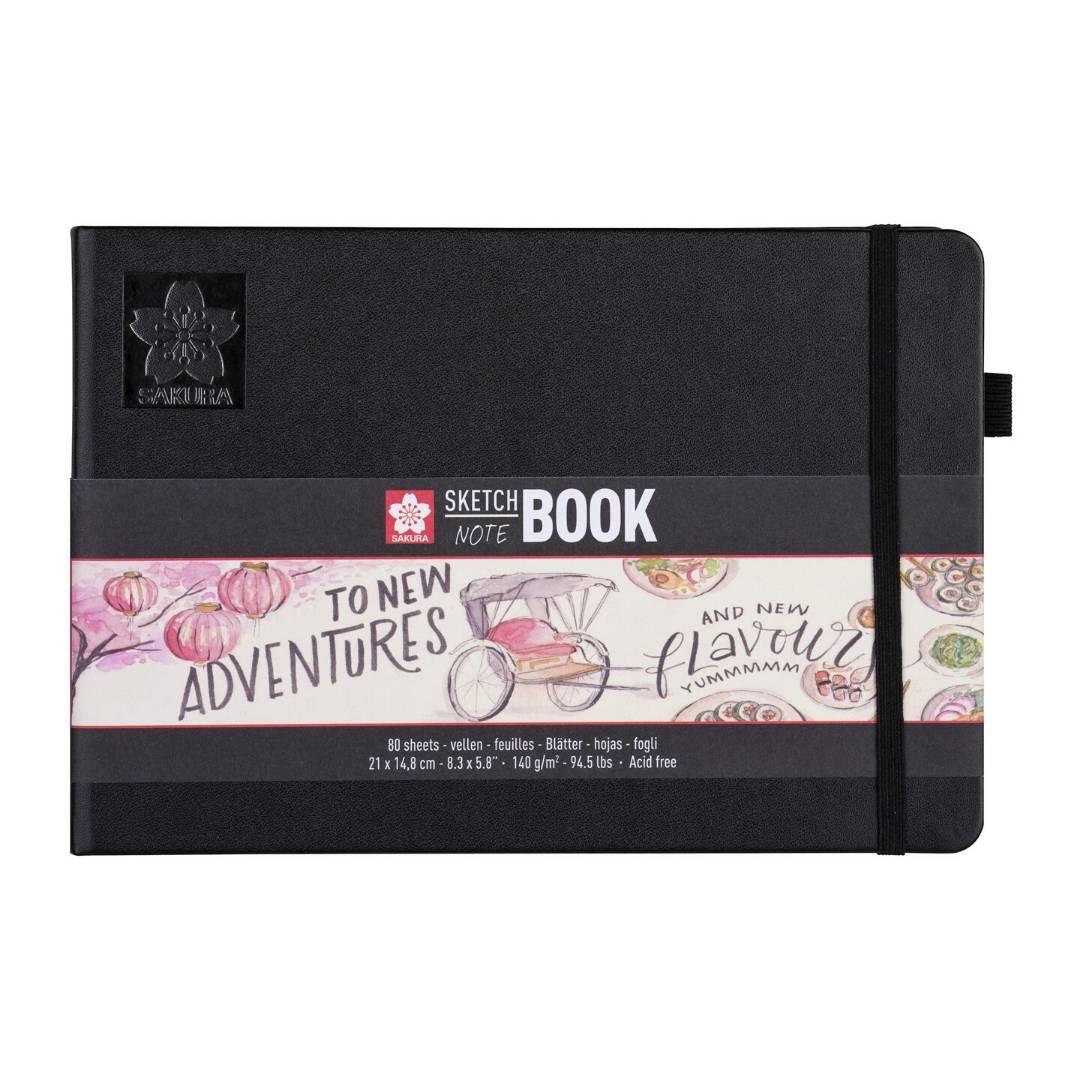 Sakura Sketch Note Book - Sketchbook Papel Blanco/Crema, Horizontal; 21 x 15 cm, 80 Hojas, 140 g/m2
