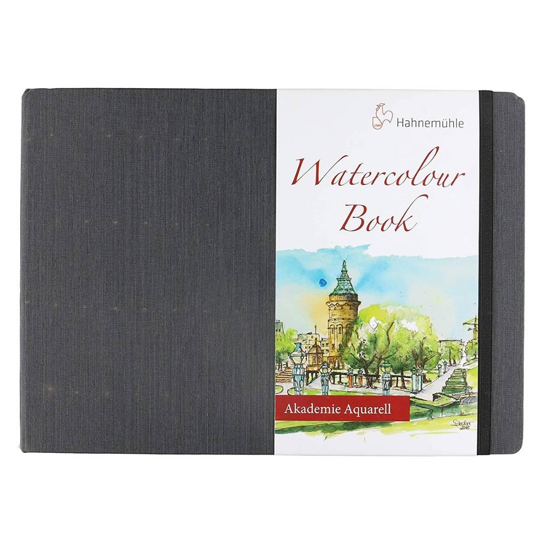 Hahnemühle Watercolour Book - Sketchbook Horizontal; A4 21 x 29,7 cm, 30 Hojas, 200 g/m2