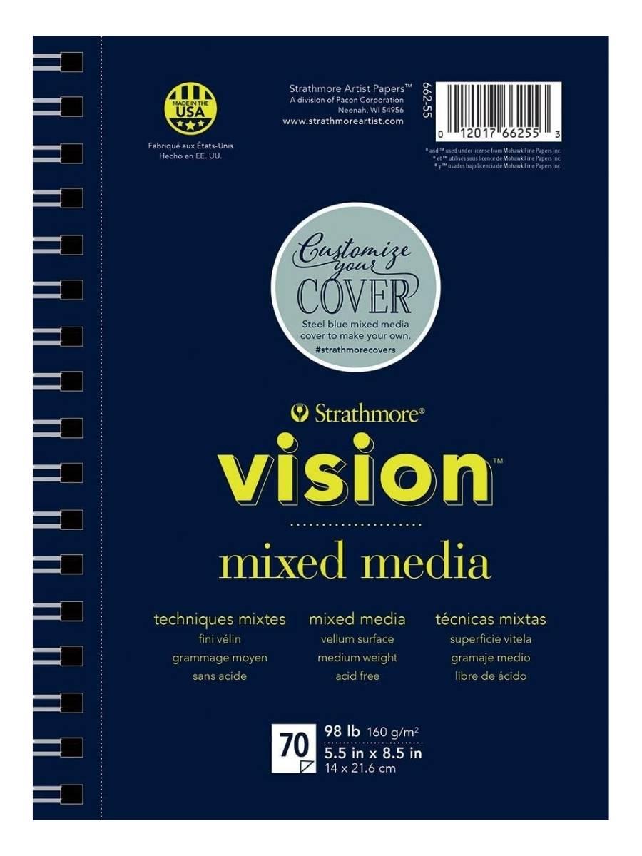 Strathmore Vision Mixed Media - Croquera 14 x 21,6 cm 160 g/m2 70 hojas