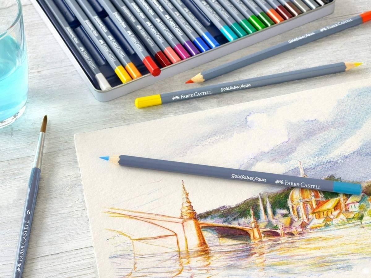 Faber Castell Goldfaber Aqua - Set 24 Lápices de Colores Acuarelables