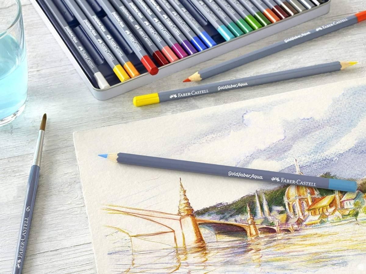 Faber Castell Goldfaber Aqua - Set 36 Lápices de Colores Acuarelables