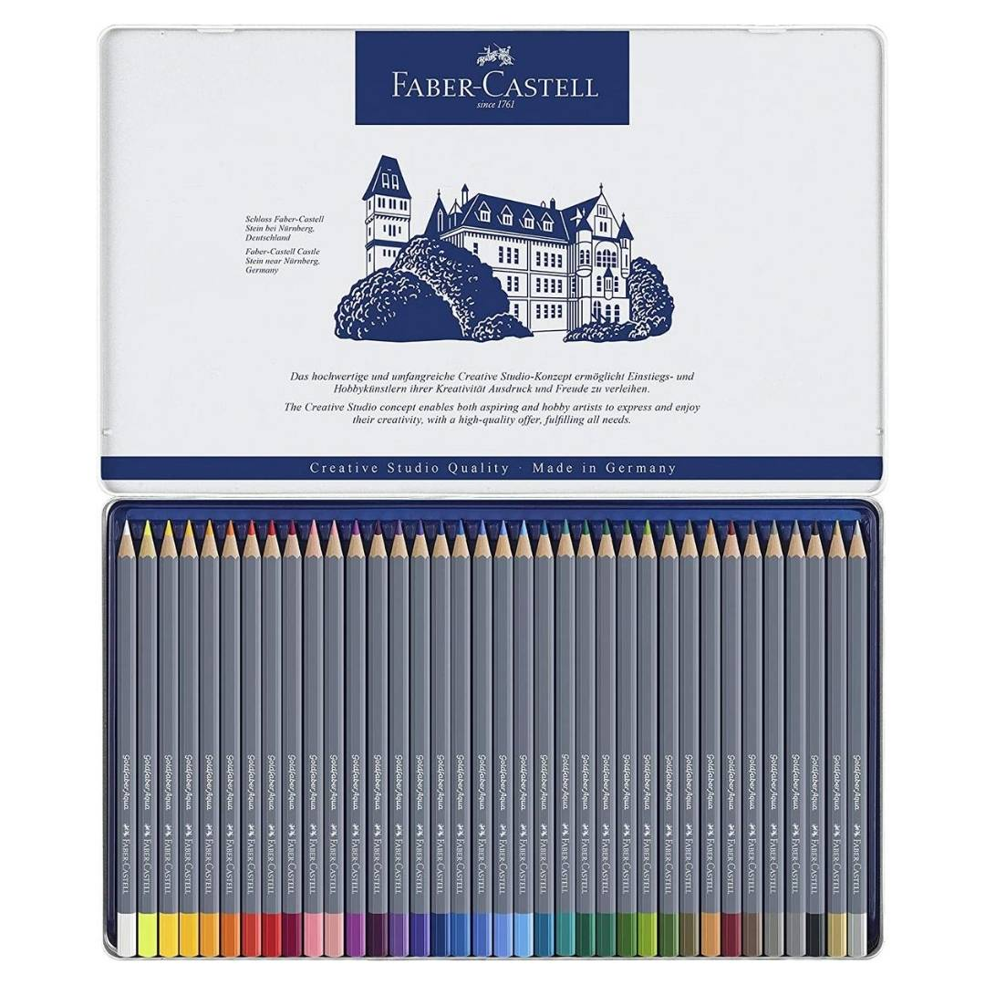 Faber Castell Goldfaber Aqua - Set 36 Lápices de Colores Acuarelables