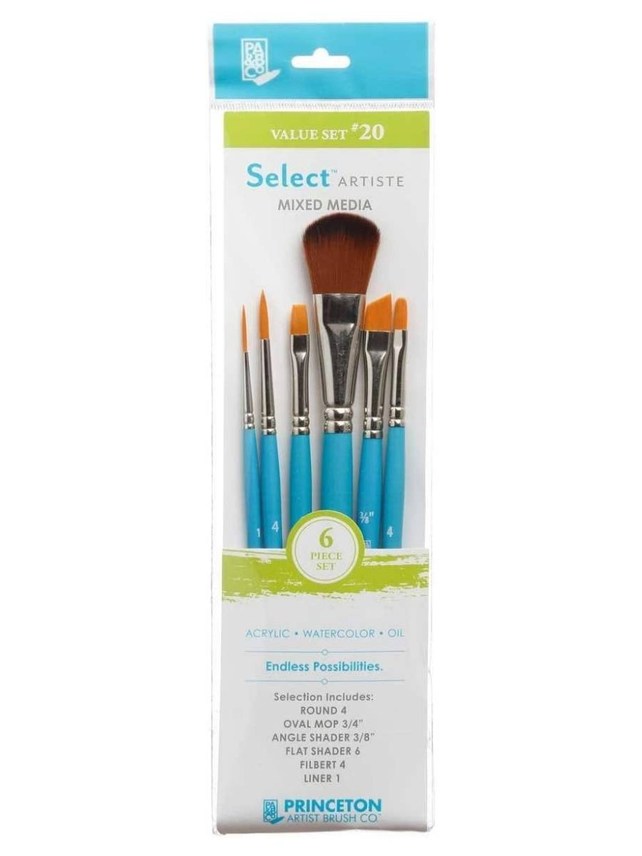 Princeton Select Artiste - Set 6 Pinceles Value Set 20