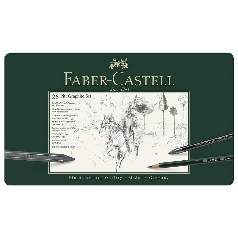 Faber-Castell Pitt Graphite - Kit Grafito 26 Piezas