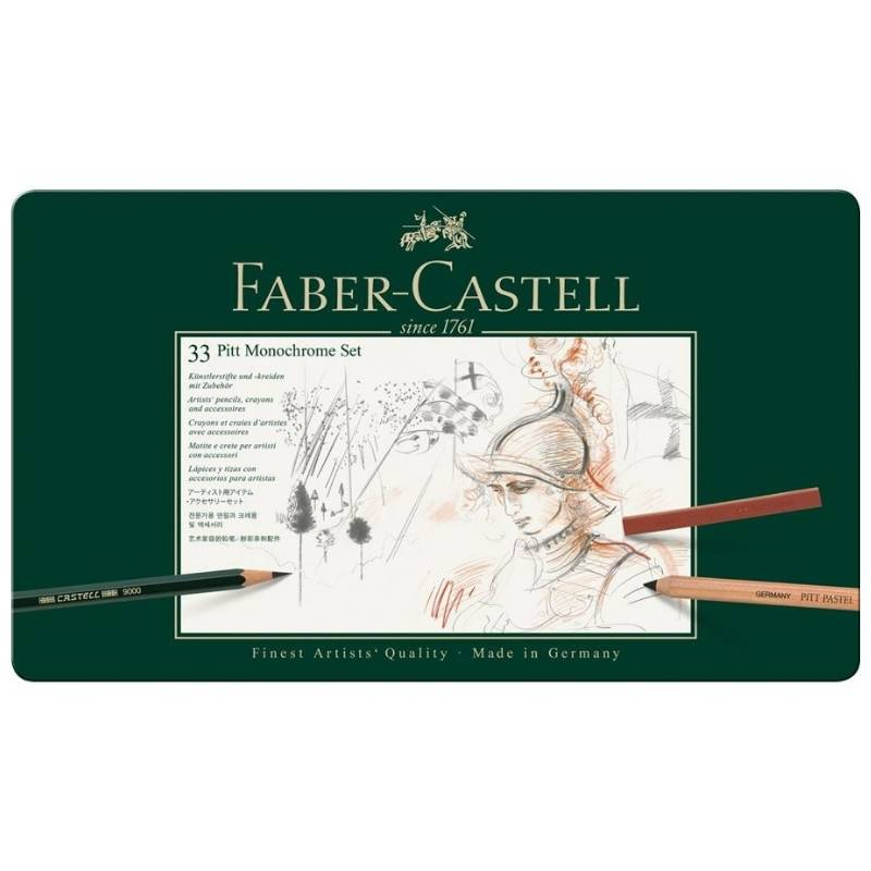 Faber-Castell Pitt Monochrome - Kit Monocromo 33 Piezas